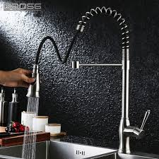 Brushed Nickel Single Handle Kitchen Faucet by Best Commercial Brushed Nickel Pull Out Sprayer Single Handle