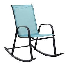 Sling Patio Chair Blue Spa Sling Rocker At Home At Home