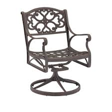Swivel Outdoor Chair Home Styles Biscayne Black Swivel Patio Dining Chair 5554 53 The