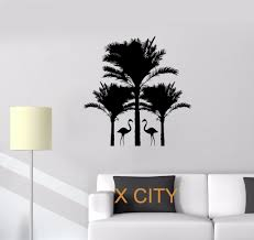 popular tree wall stencil buy cheap tree wall stencil lots from flamingo palm trees animals warm relax wall art decal sticker removable vinyl transfer stencil mural home