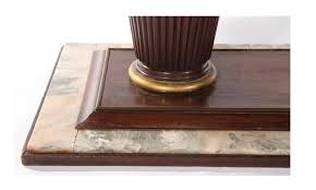 mahogany and marble art deco dining room table circa 1935 for