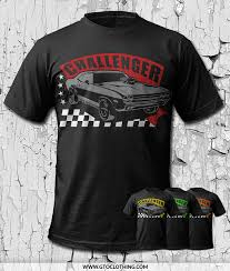 Dodge Challenger Colors - dodge challenger racing t shirt by gto clothing