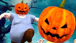 halloween pumpkin head and mummy cartoons singing finger family