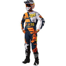 2018 Fox Racing 180 Sayak Orange Ktm Motocross Gear Kit Combo Enduro