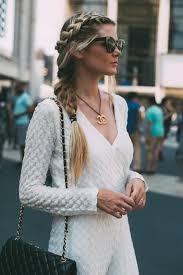 white jumpsuit barefoot blonde by amber fillerup clark street