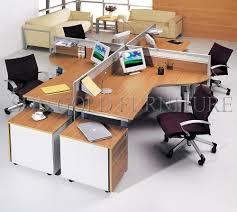 bureau rond bureau rond rond type moderne bureau poste de travail pour 4