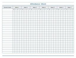 example of attendance sheet