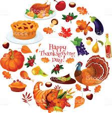 happy thanksgiving day sticker emblem stock vector