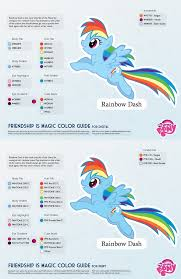 Best Color Codes by Rainbow Dash Color Guide 2 0 Updated By Kefkafloyd On Deviantart