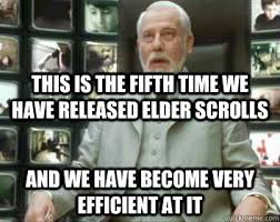 Elder Scrolls Online Meme - this is the 200th time this gif has been reposted and we are