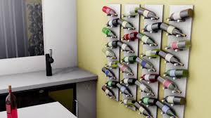 diy wall mounted wine rack video diy