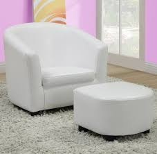 White Leather Accent Chair Monarch Specialties 8104 Accent Chair Ottoman In White Leather