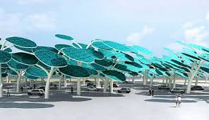 solar forest charging system for parking lots inhabitat green