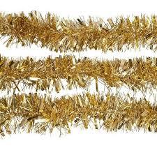 tinsel garland 2m 6 5 ft christmas tinsel tree decorations tinsel garland gold
