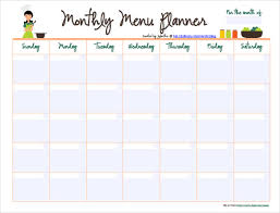 editable menu templates 10 monthly menu templates free sle exle format
