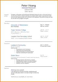 Resume Examples For First Job An Example Of A Resume For A Job How To Make A Resumeexamplesan