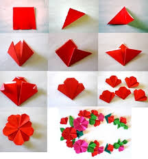 Paper Craft Steps - diy easy flower step by step tutorial k4 craft