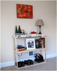 entryway bookcase create an entryway for a rental home the borrowed abodethe