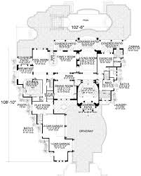 mediterranean style house plan 5 beds 8 50 baths 7893 sq ft plan