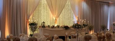 wedding backdrop fairy lights home wow weddings wedding flowers church flowers chair covers