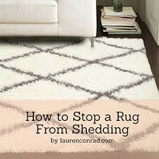 How To Clean A Long Shaggy Rug Odds U0026 Ends How To Stop A Rug From Shedding Lauren Conrad