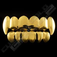 vampire fang set gold grillz 6 tooth if i had time or money i u0027d