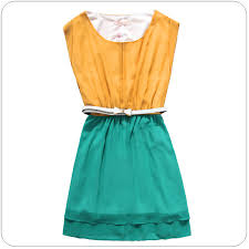 cool dresses women fashion supplier casual cool yellow and green dress k9503