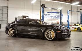 porsche panamera turbo wheels 2017 porsche panamera turbo on hre brushed gold wheels is so fresh