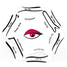 6 in 1 eyeliner sticker quick cat eye liner template eyeshadow