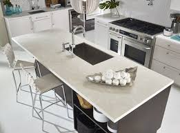 Gray Corian Countertops Bertch Cabinetry Kitchen Featuring Island In Corian Silver Gray