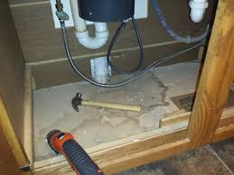 replacing the wood floor the kitchen sink teaching