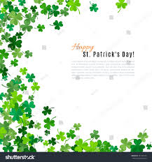 st patricks day background vector illustration stock vector