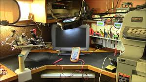 recycled electronics workbench youtube