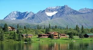Alaska beaches images Beaches reflection cabins alaska grass blue trees sky nature jpg