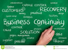 business continuity concept word cloud stock illustration image