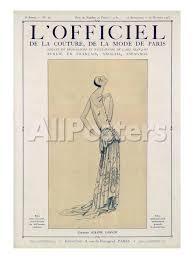 land pattern en francais l officiel september october 1923 création jeanne lanvin poster
