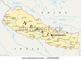 map of nepal and india nepal map stock images royalty free images vectors