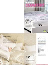 ikea comfort catalogue january 2007 mattress pillow