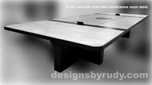 conference room designs conference room table concrete and steel design
