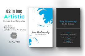 artistic business card template 005 business card templates