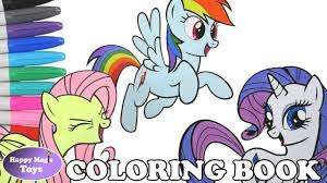 mlp coloring book pages compilation dashie fluttershy rarity my