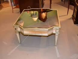 mirror top coffee table for sale at 1stdibs gold mirrored coffee