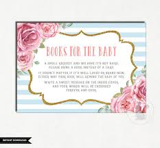bring a book instead of a card baby shower vintage baby shower bring a book instead of a card books for