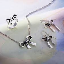 long chain bow necklace images Bow necklace james avery