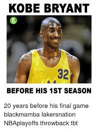 Kobe Bryant Memes - kobe bryant before his 1st season 20 years before his final game