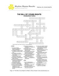 bill rights crossword puzzle php representation printable