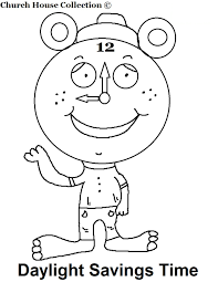 daylight saving coloring pages