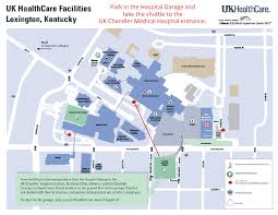 uky map map to uk healthcare facilities and parking locations ccts