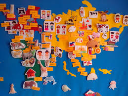 World Map Poster India by Felt Map Montessori Continents World Map By Busy Board On Zibbet