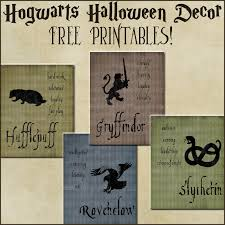 halloween decor harry potter house posters free printables